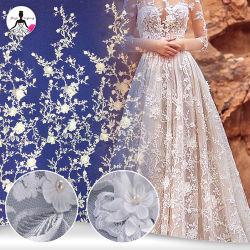 Morbido-Contatto del merletto della tessile del ricamo del vestito 3D dalle signore per il vestito