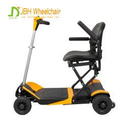 Couleur jaune One-Key handicapés Scooter électrique pliable avec batterie au lithium