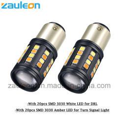 Белый/желтый индикатор 1157 LED DRL стояночный фонарь поворота возвращения двухцветный авто лампы