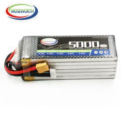 Pilha recarregável Moseworth 6s 22,2 V 5000mAh 35C 40c Lipo Bateria de polímero de lítio para RC Car RC Truck RC Avião