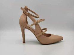 El albaricoque High-Heeled moda señaló zapatos sandalias zapatos de mujer