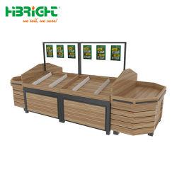 Mercearia frutas de madeira produzem vegetais Rack de exibição