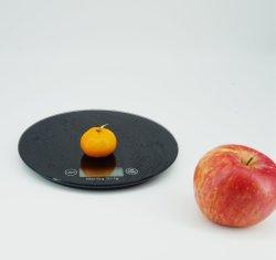 Rond noir Cuisine échelle alimentaire multifonction numérique pour la cuisson Cuisson plate-forme de verre trempé