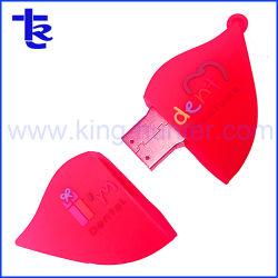 Bastone istantaneo del USB della bocca del cliente del PVC per il regalo dell'azienda