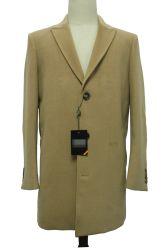 Hombre de Ajuste Personalizado lana mezclado abrigo largo invierno