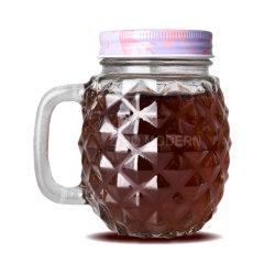 16 Unze-Ananas-Maurer-Glas-Becher mit Plastikstroh-und Zinn-Kappe - kaltes Getränketrinkende Gläser
