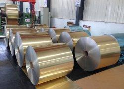 Golden Aluminium hydrofiele Fin Stock-folie