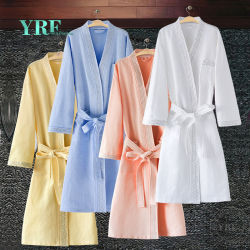 Guangzhou Foshan 100% Badjas van het Hotel van Katoenen Witte Velourterry van de Wafel voor Yrf