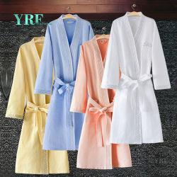 Foshan preço de fábrica de Guangzhou 100% de algodão branco Velourterry Waffle Hotel roupão de banho para Yrf