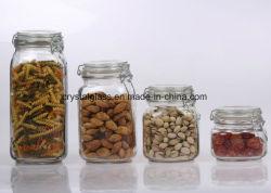 Almacenamiento de vidrio sin plomo frascos de vidrio de cocina