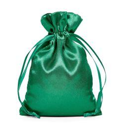 Calidad Premium Pulsera de satén color esmeralda de la bolsa de embalaje