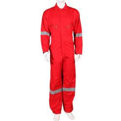 産業35%の綿65%ポリエステル作業ユニフォームによって編まれる着るFrcのつなぎ服のボイラースーツのWorkwearを設計する方法