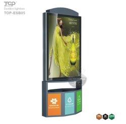 耐久のくず入れが付いている装置の太陽エネルギーの交通標識の広告