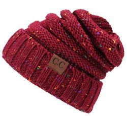 Cappello di lavoro a maglia di inverno di svago di colore di miscela del cavo acrilico di marchio di cc