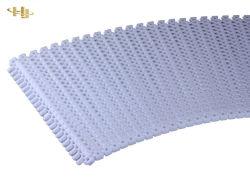 Correia modular de plástico branco e azul de curva curva 90 grau Correia Transportadora Correia Transportadora de 180 graus