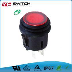 차를 위한 방수 전자 순간 LED에 의하여 분명히되는 가벼운 자동 마이크로 누름단추식 전쟁 스위치