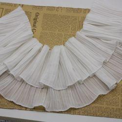 Merletto chiffon dell'increspatura del merletto del commercio all'ingrosso 13cm per gli accessori dell'indumento