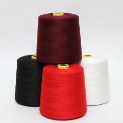 Hilados de poliéster de alta resistencia con cono de papel, plástico/tubo de teñido de color, hilo, el hilo de coser