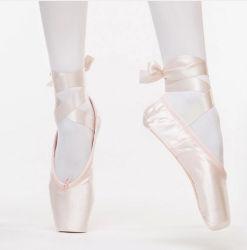 باليه [بوينت] رقص أحذية محترف باليه رقص أحذية مع أوشحة أحذية إمرأة