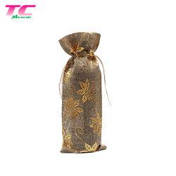 Vollkommener Drawstring-Geschenk-Wein-Beutel-verschiedener Art-Jutefaser-Wein-Flaschen-Beutel