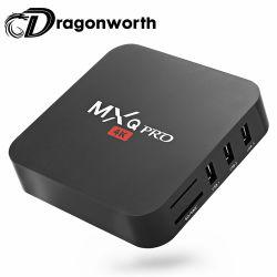 Mxqプロ小型2GB DDR3のRAM 16GB Emmc ROMの5コアGPU 3840*2160 4KメディアプレイヤーTVの流出ボックス装置