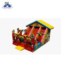 Nouveau design de haute qualité Lilytoys 2019 Aire de jeux gonflables Equiement Mickey Bounce Trampoline Diapositive avec ventilateur