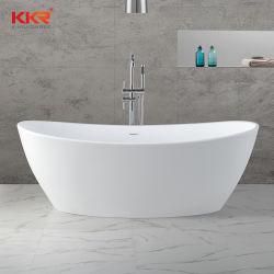 Europäische tränkende Wannen/reine feste acrylsaueroberfläche, die frei Dusche-Badewanne steht