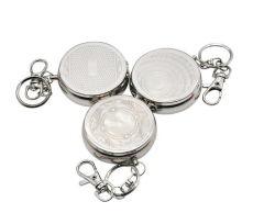 Pocket Aschenbecher-beweglicher Aschenbecher draußen ringsum Zigaretten-Aschenbecher mit Keychain Edelstahl-rauchenden Zubehör