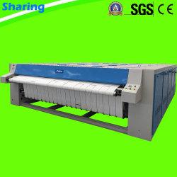 이중 롤러 자동 산업용 침구 시트 다리미 기계 평판 다리미 호텔 세탁