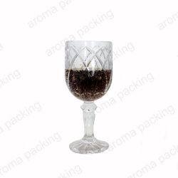 Vente à chaud logo en relief la mode en verre de vin rouge clair