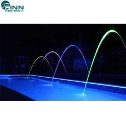 Jardin Piscine LED Rainbow Jets d'eau laminaire Fontaine de saut