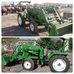 China 50 HP 45HP 40HP 35HP 30CV Tractor agrícola 4WD con cargador frontal y retroexcavadora