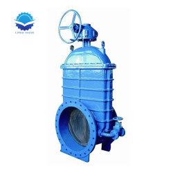 Face à Face DIN 3202 F4 DN 65-300 en fonte ductile Vanne à tête carrée pour les eaux usées et l'huile fabriqués en Chine de Tianjin