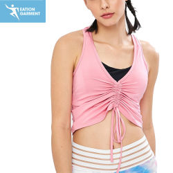 De Slijtage van de Fitness van de Yoga van de Dames van Spandex van het Mouwloos onderhemd van het Gewas van de Sport van Racerback van de manier