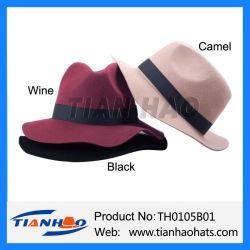 Оптовая торговля 100% шерсть считает Fedora Trilby женщины и мужчины Red Hat