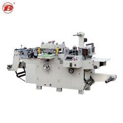Anhaftendes Papiercup-Film-Aufkleber-Vorlagenglas maschinell hergestellt beschriften flaches Bett-Scherblock automatische Presse-stempelschneidenes lochendes faltendes heißes Folien-Stempeln in China