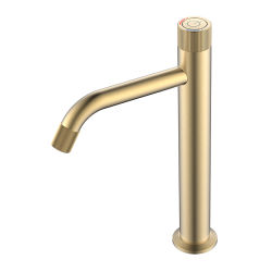 Novo design de alta qualidade sanitária de banho de latão da Bacia Hidrográfica Interruptor do Botão de Controle de Fluxo de água da torneira Bico Misturador Torneira-2020-2ZF (MG)