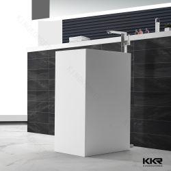 Superfície sólida Luxry Autoportante Lavatório para banheiro
