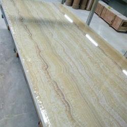 Nouveau design pour les murs de marbre artificiel en PVC de tuiles et de plafond