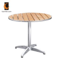 Сопротивление при высокой температуре на улице алюминия из тикового дерева обеденный ресторан установить исходную таблицу