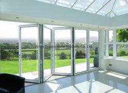 Pivotement de levage coulissantes en aluminium résistant au feu pour portes et fenêtres Bi-Folding décoration maison