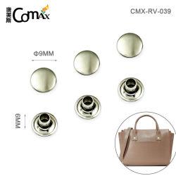 Fabricante Comax Níquel Metal mayorista la bolsa de remaches, lavable de diseño profesional de 9mm de hierro remache prenda