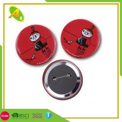 Fabricante de moda personalizada de hojalata de metal redondo el botón Pin distintivo blanco de 58 mm de la Organización del corazón imprimir papel estampado plástico insignia de estaño para regalos promocionales