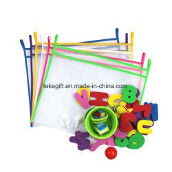 Горячая ванна продажи детского повесить на стену в ванной комнате мешок ячеистой сети хранения данных органайзера игрушек