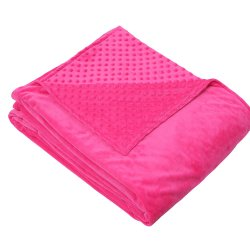 Tamaño personalizado de alta calidad y color visón tejido MANTA Manta vuelta ponderada