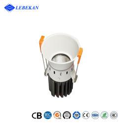 고휘도 Bevel COB 둥근 천장 매립형 인도어 다운라이트 LED 스포트라이트 IP65 알루미늄 협각 5W 8W 10W LED 다운라이트