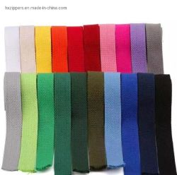 卸し売り無地のさまざまな幅の袋ストラップのための厚い綿のウェビングテープ