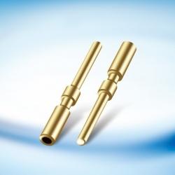 Gold-Plated insertos de cobre para o ponteiro do Barramento de fone de ouvido 0,76 , Fio