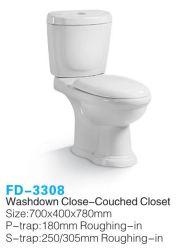 شهادة CE/Coc/PC تنزانيا ونيجيريا المرحاض من السيراميك من قطعتين