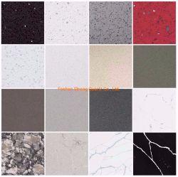 Prefab Polidos Star/Sparkle /Cararra /Calacatta cinza/branco/preto/amarelo/Blu/bege/Artificial Vermelha /Projetado Lajes de pedra de quartzo